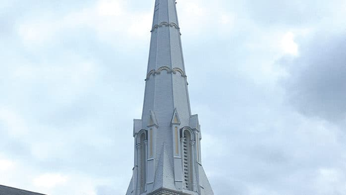 Iconic Grace Church steeple up for repairs