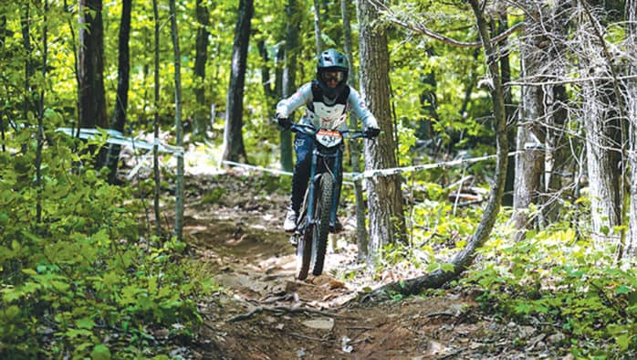 New to the sport, Lenci Bogdan tears up her mountain biking competition