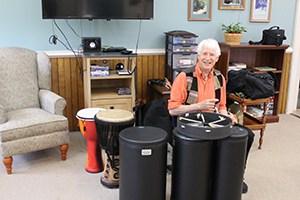 Seniors discover joy in drumming, creating rhythms together