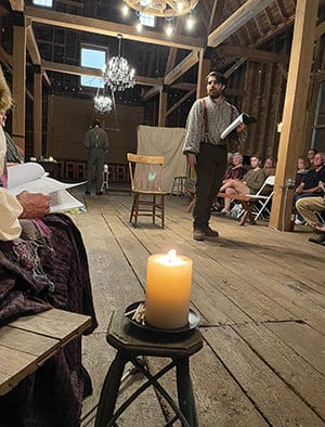 Ghosts and spirits join the audience for the premiere of 'Second Sight or the Way of Holiness' in Pittsford