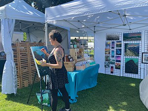 Perfect summer weather shines on Art in the Park