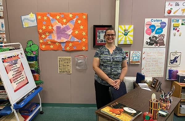 Melissa Knipes, kindergarten teacher, knows her students