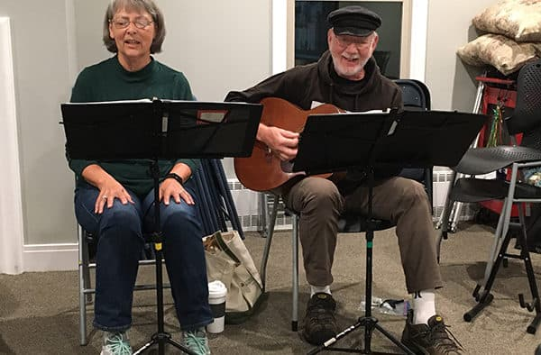 Virtual and in-person song circle at Godnick Adult Center and on Zoom, Oct. 6