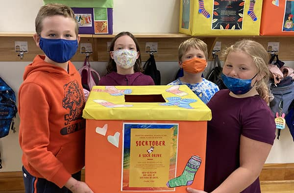 3rd grade students launch 'Socktober'